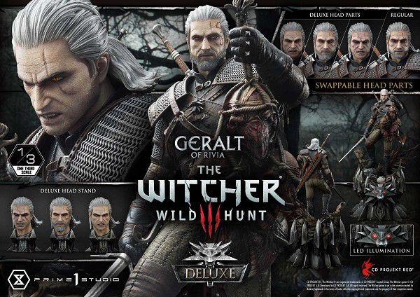 Museum Masterline Series - Escala 1/3 - The Witcher 3: Wild Hunt: Geralt of Rivia Deluxe Version