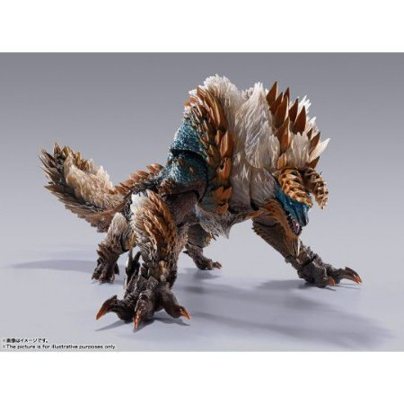 Figure Monster Hunter World: Iceborn - Zinogre - S.H. MonsterArts Tamashii Nations (ENCOMENDA)