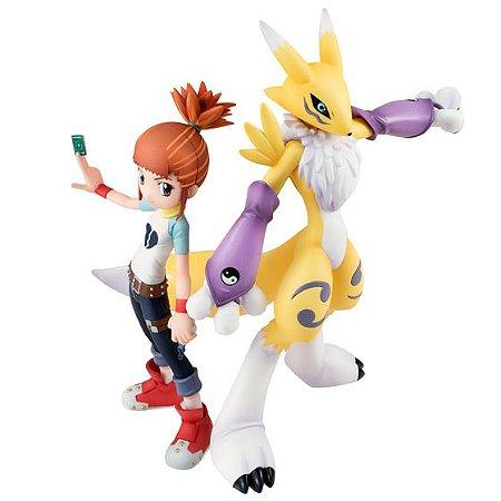 Renamon & Makino Ruki Digimon Tamers G.E.M. Series MegaHouse Original