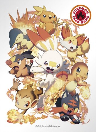 Sleeve Pokémon iniciais de fogo
