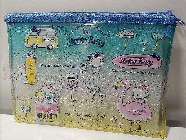 Bolsinha Hello Kitty com zíper