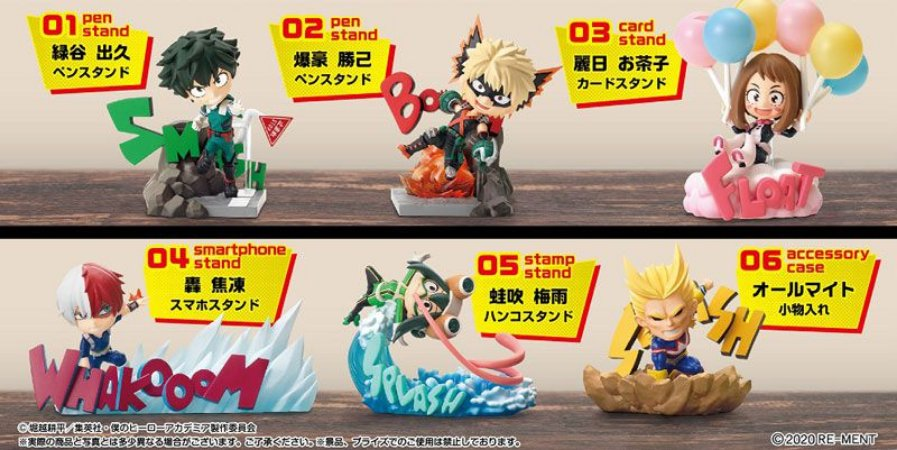 My Hero Academia DESKTOP HEROES 6Pack BOX(Pre-order)