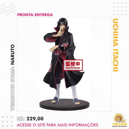 FIGURE NARUTO SHIPPUDEN - ITACHI UCHIHA - VIBRATION STARS (Pronta Entrega)
