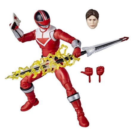 Figure Articulada - Power Ranger Lighting Collection - Time Force Red Ranger (Pronta Entrega)