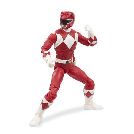 Figure Articulada - Power Ranger Lighting Collection - Mighty Morphin Red Ranger (Pronta Entrega)