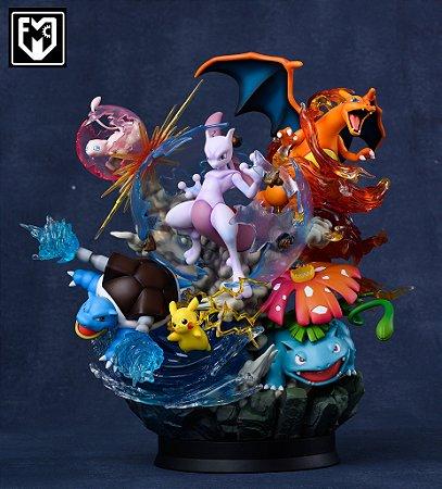 Figure Pokemon - Counterattack of Mewtwo - Kanto - Resin Statue - Deluxe Ver. - MFC Studios (Pre-Order)