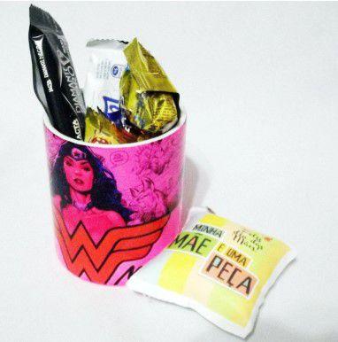 Presente Dia da Mães - Kit caneca Personalizada - Kit Mãe Maravilha