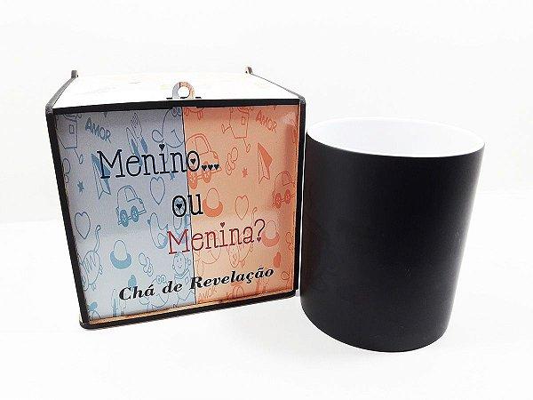 Kit Caneca Revelação + Caixa MDF - Chá de Revelação