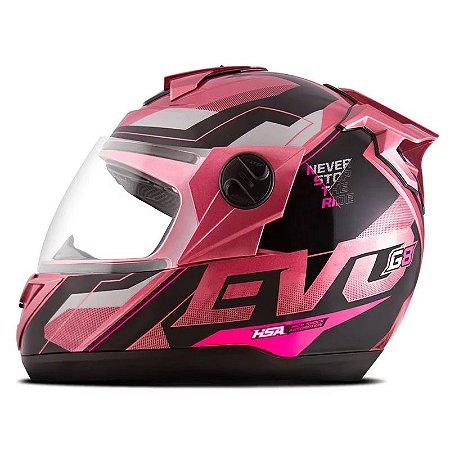 Capacete Pro Tork Evolution G8 EVO Rosa