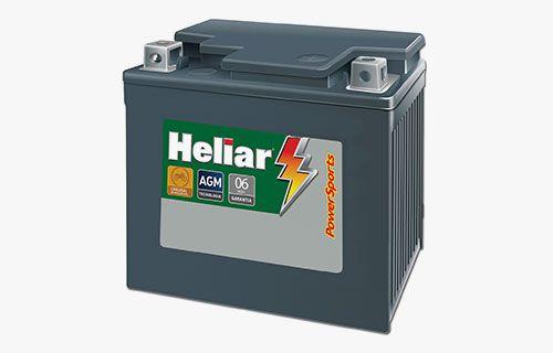 Bateria Heliar 5Ah PowerSports HTZ6L