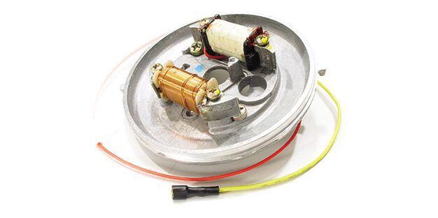 Estator Ciclomotor Caloi Mobylette equipado com motor AV 10 e Magneto Eletrônico Magnetron 90270400