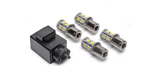 Kit Relé de Pisca com Lâmpada LED Branco (13 LEDs) HONDA E YAMAHA 90208250
