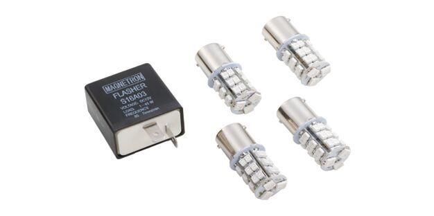 Kit Relé de Pisca (2 Pinos) com Lâmpada LED Amarelo (33 LEDs) HONDA, YAMAHA, DAFRA, SHINERAY E SUNDOWN 90208291