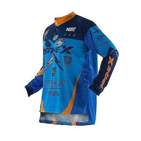 Camisa Pro Tork Insane X Azul Laranja