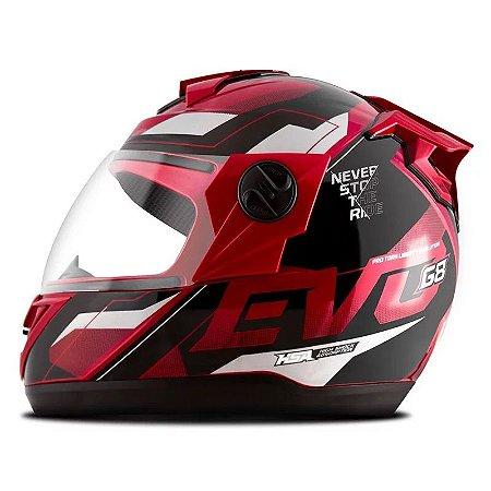 Capacete Moto Fechado Pro Tork Evolution G8 Evo Vermelho
