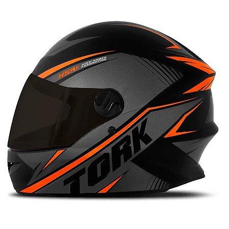 Capacete Moto Pro Tork R8 Laranja Viseira Fumê