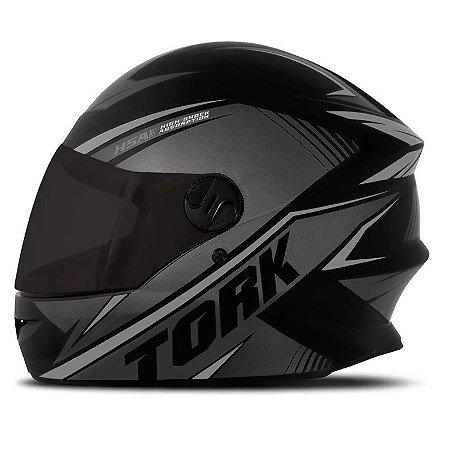 Capacete Moto Pro Tork R8 Preto Viseira Fumê