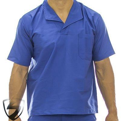 Camisa Profissional em Brim Gola Itália Royal