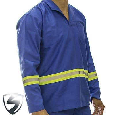 Camisa Profissional em Brim Refletivo