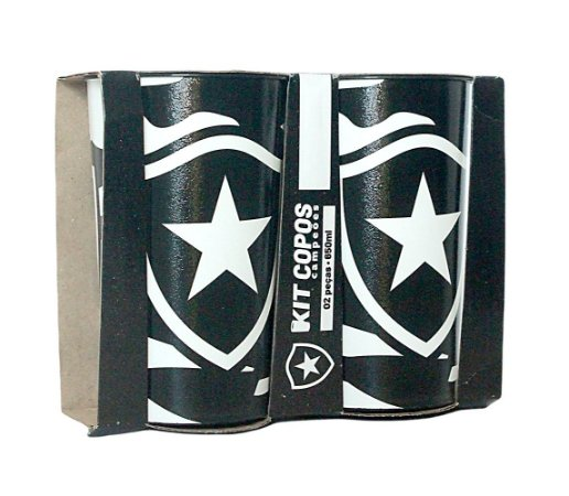 2 Copos Plásticos 650ML Botafogo