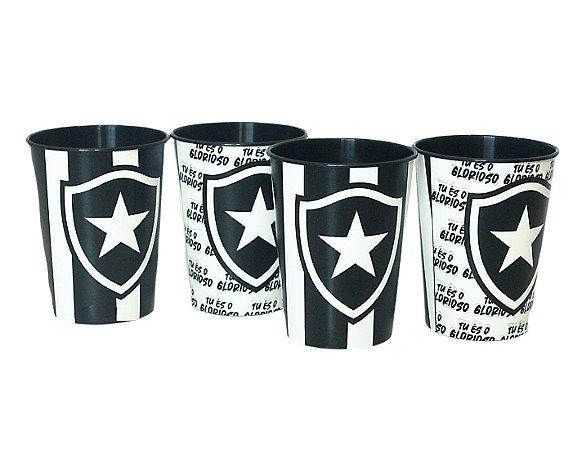 Kit com 4 Copos Plásticos de 450ml Botafogo