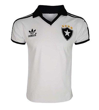 Camisa Retrô Botafogo Branca 1988 Lisa