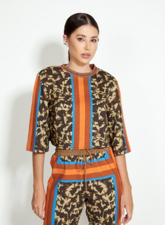 Blusa Estampada Lenço Camuflage Open