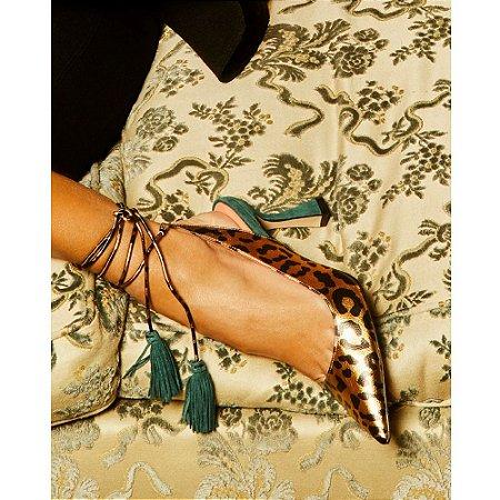 Sapato Onça Metal Bronze Luiza Barcelos