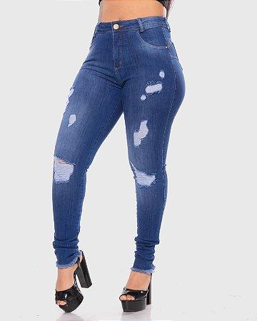 Calça Jeans Cigarrete C/ Rasgos Fill Brasil REF 09127