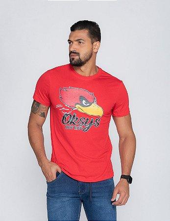 Camiseta Masculina Oksys RED