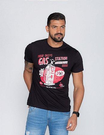 Camiseta Masculina Oksys Gas Station