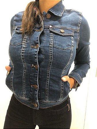 Jaqueta Feminina Jeans Com Elastano Lavagem Escura RED.08332