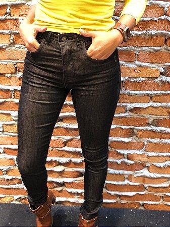 Cigarrete Feminina Jeans Preto com Elastano e Zíper na Barra RED.07916