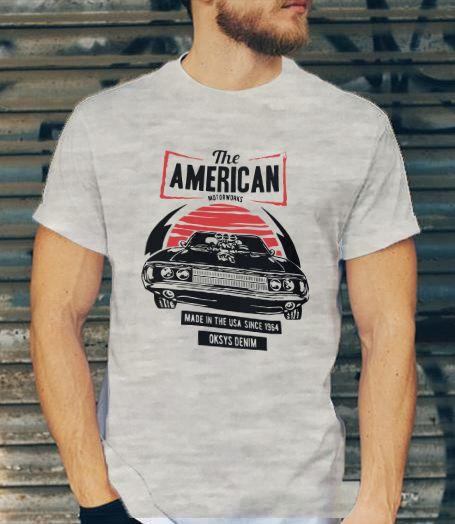Camiseta Masculina Oksys Denim The American