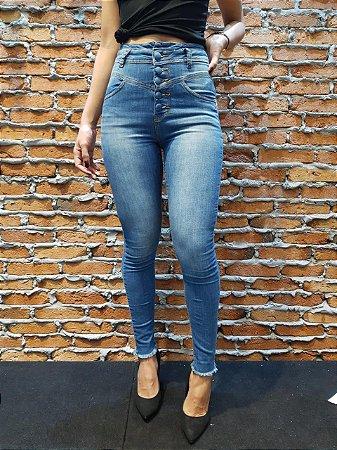 Skinny clara botão jeans-08789-08809