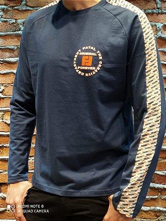 Camiseta manga longa Fatal 08822-24416