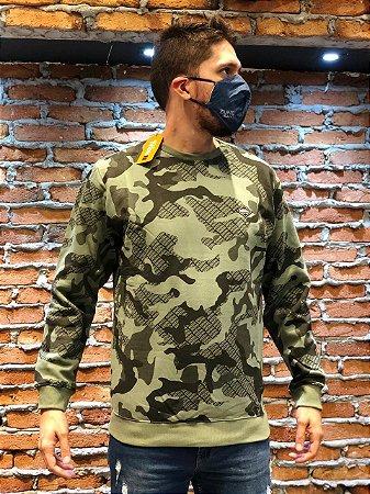 Blusa de Frio Moletom Masculino Estampa Camuflada REF 08840