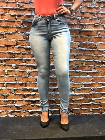 Calça Jeans Skinny delave REF 08692