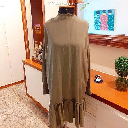 Vestido Eva de seda, Tam 40