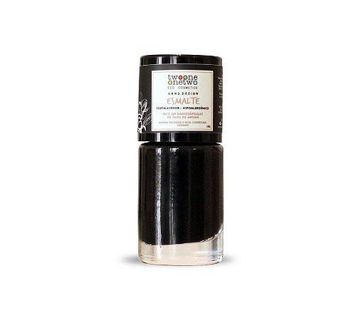 Esmalte Hipoalergênico Vegano Fortalecedor Black Onyx 10 ml - Twoone Onetwo