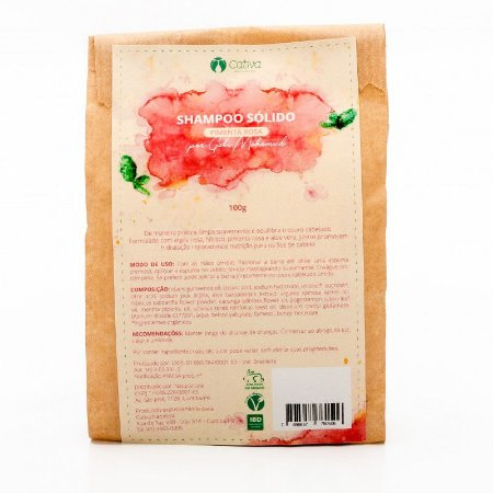 Shampoo Sólido de Pimenta Rosa 100g - Cativa Natureza