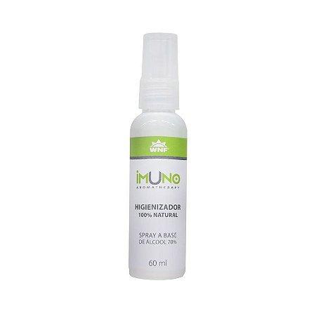 Spray Higienizador Imuno 100% Natural 60ml - WNF