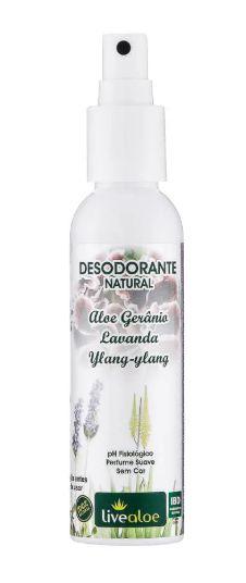 Desodorante Natural Vegano de Aloe e Gerânio 60ml - Livealoe