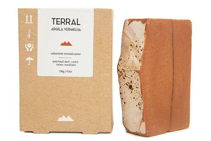 Sabonete de Argila Vermelha 130g - Terral Natural