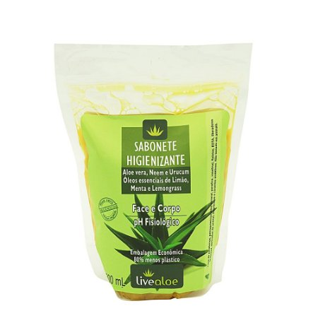 Refil Sabonete Líquido Vegano Higienizante 500ml - Livealoe