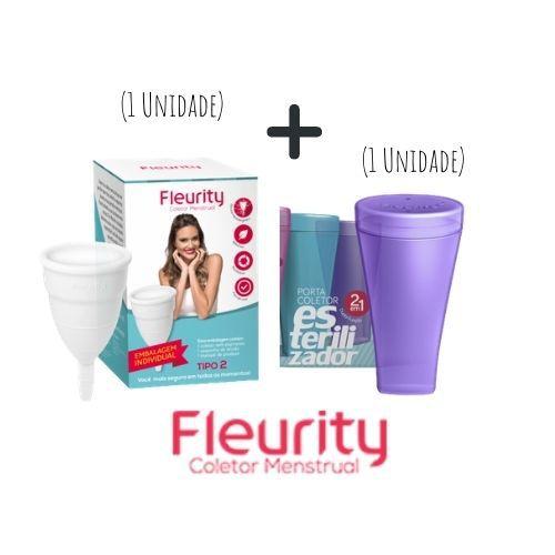 Kit Coletor Menstrual Tipo 2 + Copo Esterilizador - Fleurity