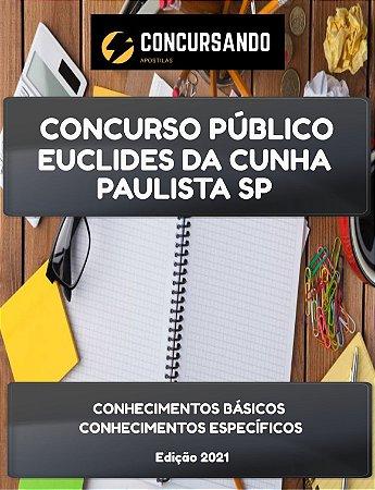 APOSTILA PREFEITURA DE EUCLIDES DA CUNHA PAULISTA SP 2021 AGENTE COMUNITÁRIO DE SAÚDE