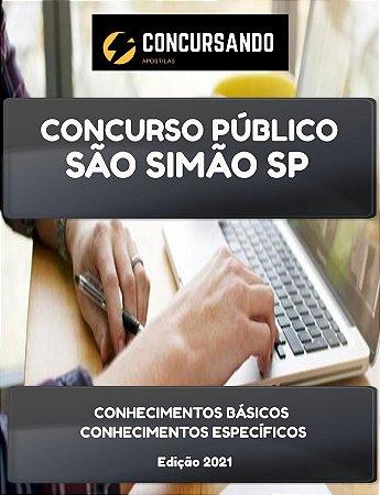 APOSTILA PREFEITURA DE SÃO SIMÃO SP 2021 PROFESSOR DE ENSINO FUNDAMENTAL III EDUCAÇÃO FÍSICA