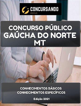 APOSTILA PREFEITURA DE GAÚCHA DO NORTE MT 2021 AUDITOR DE CONTROLE INTERNO