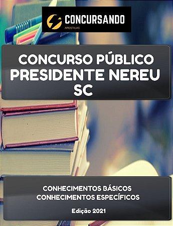 APOSTILA PREFEITURA DE PRESIDENTE NEREU SC 2021 AGENTE COMUNITÁRIO DE SAÚDE BARRINHA